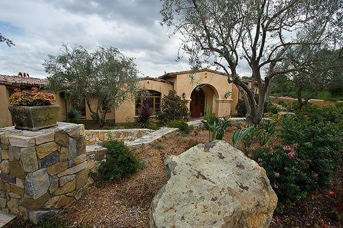 The Grounds Are Tastefully Landscaped Using Mediterranean Plants And